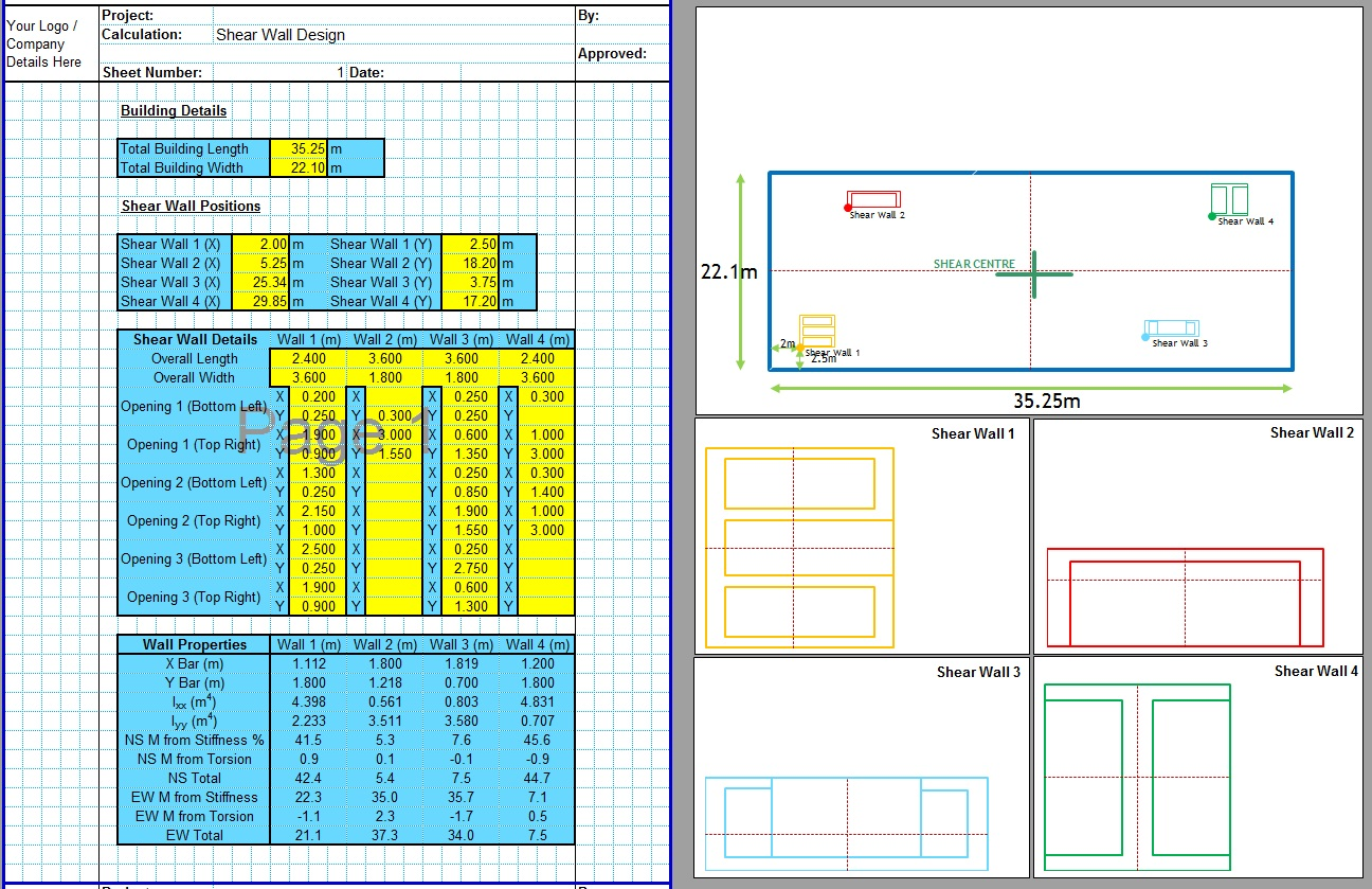Concrete Shear Wall Design Spreadsheet1