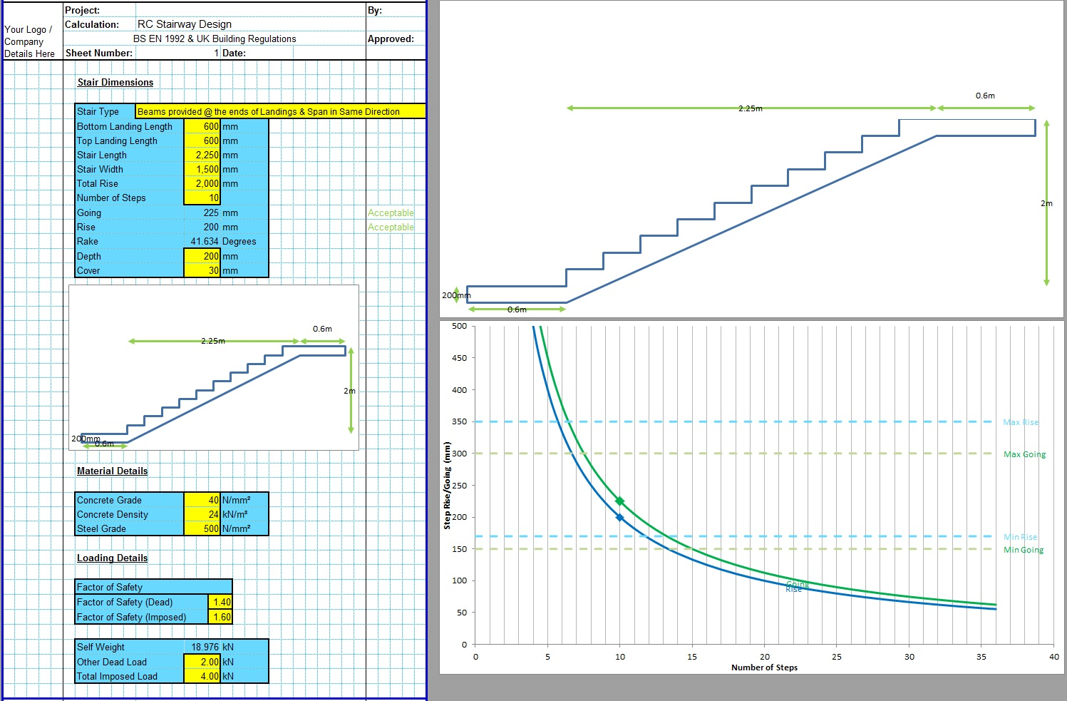 Concrete Stairs Design Spreadsheet1