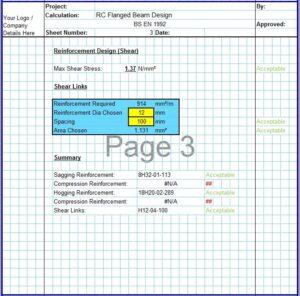 T Shaped RCC Beam Design Excel Sheet4