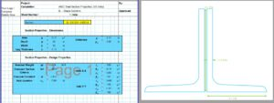 Angle Section Properties Calculator - AISC 2L