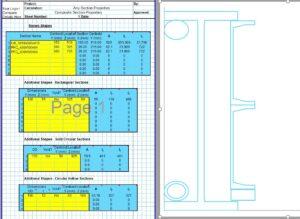 Built Up Section Properties Calculator Spreadsheet - Built Up1