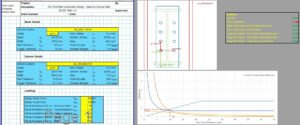 End Plate Connection Design Excel - Beam to Column Web Full 1