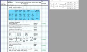 End Plate Connection Design Excel - Supp Web Plates 3
