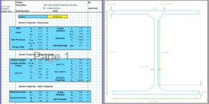 I Beam Section Properties Calculator - AISC HP