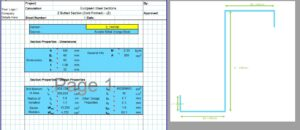 Moment of Inertia of Z Section Calculator - European Z