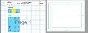 SHS Section Properties Calculator - Built Up SHS