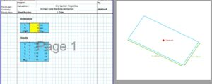 Section Modulus Calculator Rectangle - Built Up Inclined Rectangle