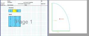 Solid Circle Moment of Inertia Calculator - Solid Quarter Ellipse