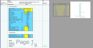 Steel Angle Design Spreadsheet - AISC Double Compression & Bending