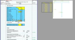 Steel Beam Design Spreadsheet - AISC T Section