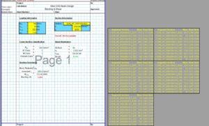 Steel Beam Design Spreadsheet - EHS1