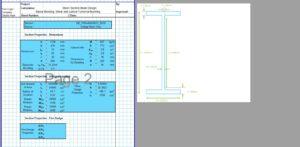 Steel Beam Design Spreadsheet - I Section 2