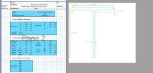 Steel Beam Design Spreadsheet - T Section 2