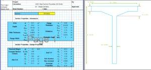 T Beam Moment of Inertia Calculator - AISC ST