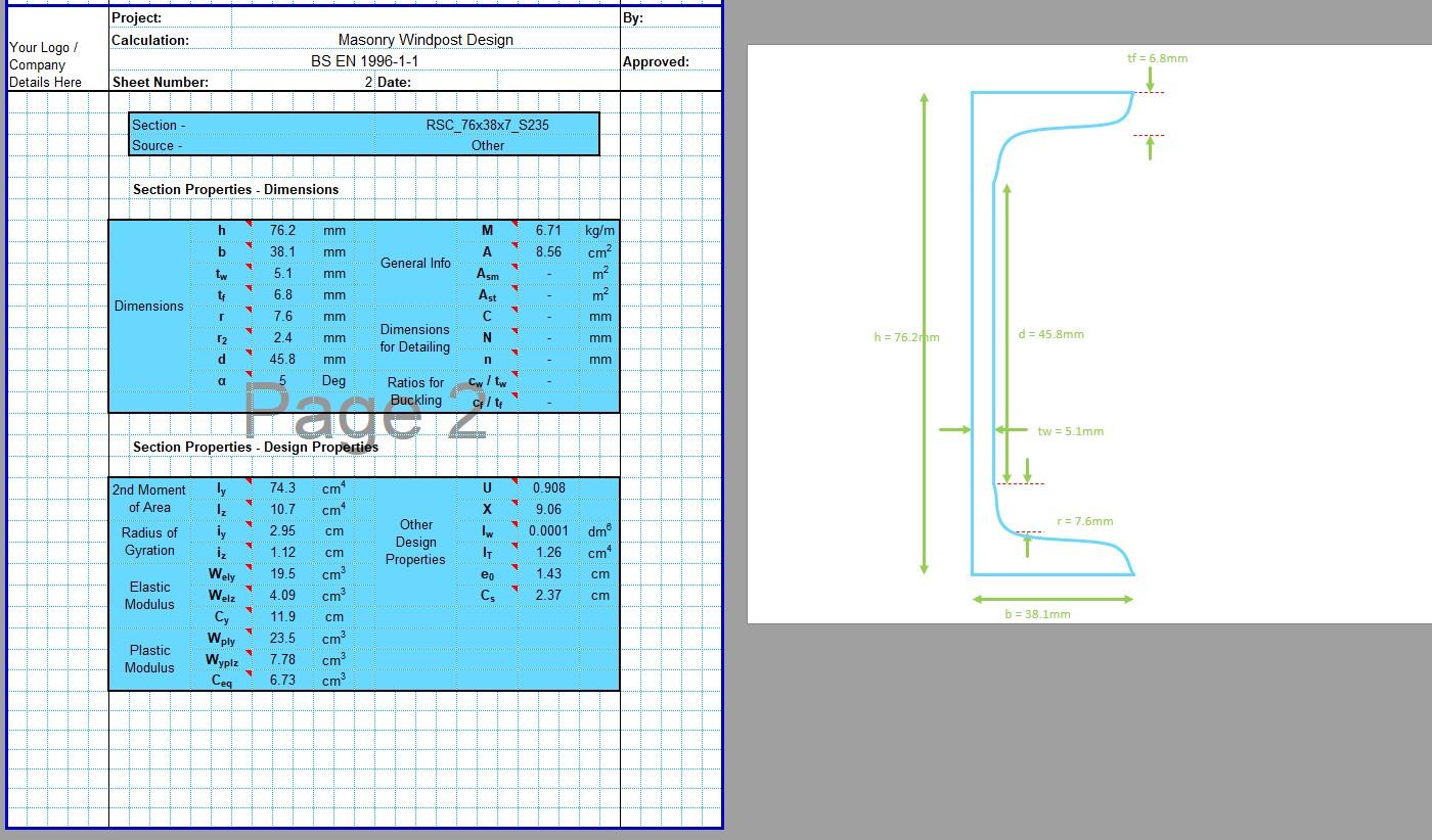 Windpost Design Spreadsheet 04