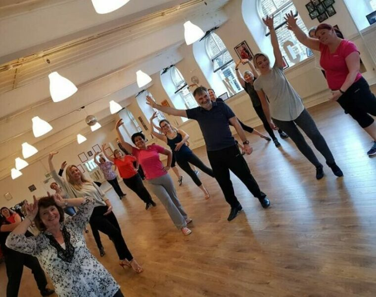 latin in line fitness class keighley