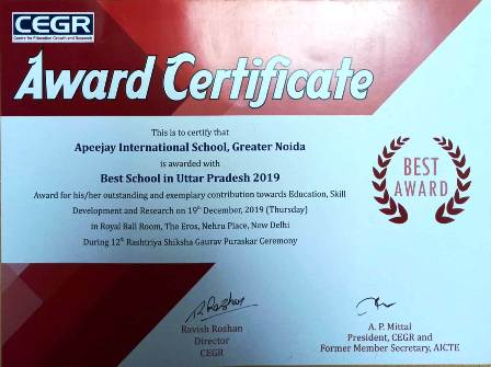 Apeejay International School (Best School in Uttar Pradesh-2019)