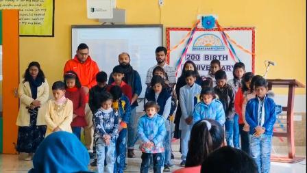 ग्रैड्स इंटरनेशनल स्कूल में बहाई धर्म के संस्थापक बाब व बहाउल्ला की मनायी 200वीं जयंती