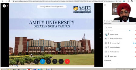 Amity University conducted online career counseling session on topic ̏ Career Options & Future Prospects in Management, Engg & Allied Areas ̏