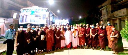 जीबीयू से म्यांमार के छात्रों का जत्था कोविड के कारण अपने देश रवाना हुए