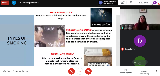 World No Tobacco day Webinar held at I.T.S Dental college