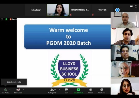 LLOYD BUSINESS SCHOOL IN ORIENTATION & INDUCTION PROGRAM FOR PGDM (XI Batch)