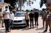 पुलिस ने पांच शातिर लुटेरों को दबोचा, जिनके पास से लूटी हुई कार व अन्य सामान बरामद