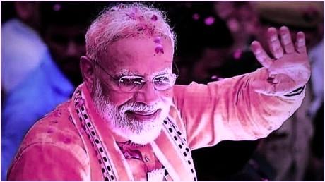 रबूपुरा में भाजपा कार्यकर्ताओं ने केक काटकर प्रधानमंत्री का मनाया जन्मदिन