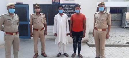 हत्या के आरोप में फरार चल रहे दो आरोपियों को पुलिस ने दबोचा
