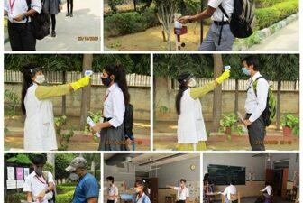समसारा स्कूल में सभी सुरक्षा नियमों के साथ हुआ दसवीं व बारहवीं कक्षा के विद्यार्थियों का स्वागत