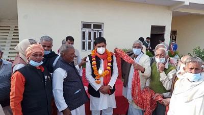 महामंत्री बनने के बाद प्रथम आगमन पर हरीश ठाकुर का कार्यकर्ताओं ने किया जोरदार स्वागत