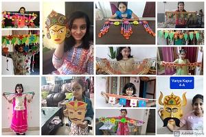 जी डी गोयंका में आन लाइन अन्तर्सदनीय कला संवर्धन प्रतियोगिता