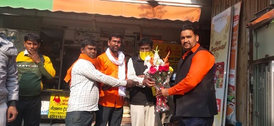 क्षेत्रीय महामंत्री बनाये जाने पर कार्यकर्ताओं में खुशी: