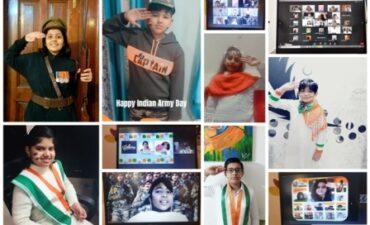 जीडी गोयनका पब्लिक स्कूल स्वर्णनगरी में मनाया गया ऑनलाइन सेना दिवस