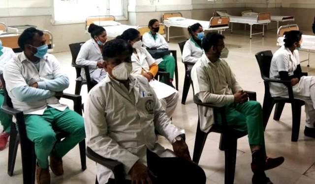 GIMS ग्रेटर नोएडा में Covid-19 टीकाकरण का ड्राई रन पूर्वाभ्यास का हुआ आयोजन