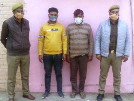 पशु क्रूरता के मामले में दो गिरफ्तार, कैंटर से सात दर्जन पशु बरामद, मामला दर्ज