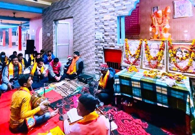 श्रीराम मंदिर निर्माण निधि समर्पण एवं जन जागरण के वीएचपी व बजरंग दल ने सुन्दरकांड का किया पाठ