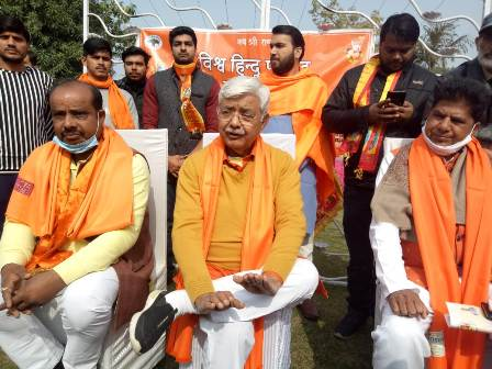 विश्व हिन्दू परिषद श्रीराम मंदिर निधि के लिए चलाया समर्पण अभियान