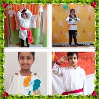 जे.एस. अकेडमी के बच्चों ने मनाया वर्चुअल गणतंत्र दिवस