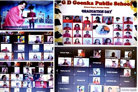 जी.डी. गोयंका स्कूल में मनाया गया ग्रेजुएशन डे