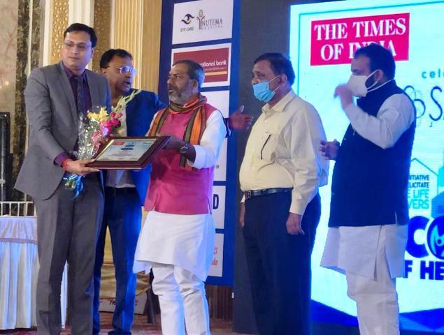 डॉ. अमित गुप्ता को टाइम्स समूह ने दिया हेल्थ आइकॉन अवार्ड