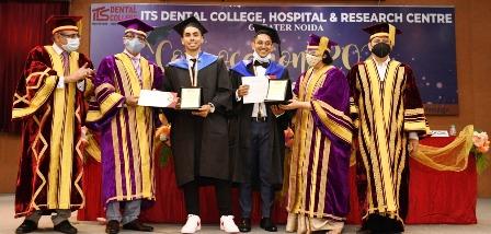 आईटीएस डेन्टल कॉलेज में एमडीएस व बीडीएस के छात्रों को मिली डिग्री
