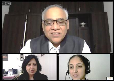 Prof. Shailendra Saraf, Vice-President,PCI addressing the Virtual Valedictory Session at Lloyd FDP (Phase-3)