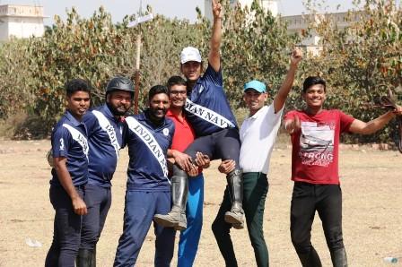 इंडियन नेवी के मोहित कुमार ने टेन्ट पेगिंग में जीता स्वर्ण