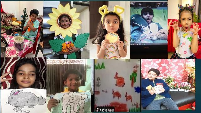 जीडी गोयंका के बच्चों ने ऑनलाइन मनाया पृथ्वी दिवस का उत्सव