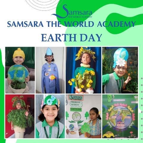 समसारा विद्यालय के बच्चों ने ऑनलाइन मनाया विश्व पृथ्वी दिवस