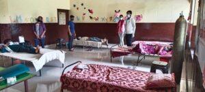 गांव वासियों ने कोरोना मात देने की तैयार की योजना, बनाया कोविड सेन्टर,School Make Covid Center Grno West Jalalpur Vill-2