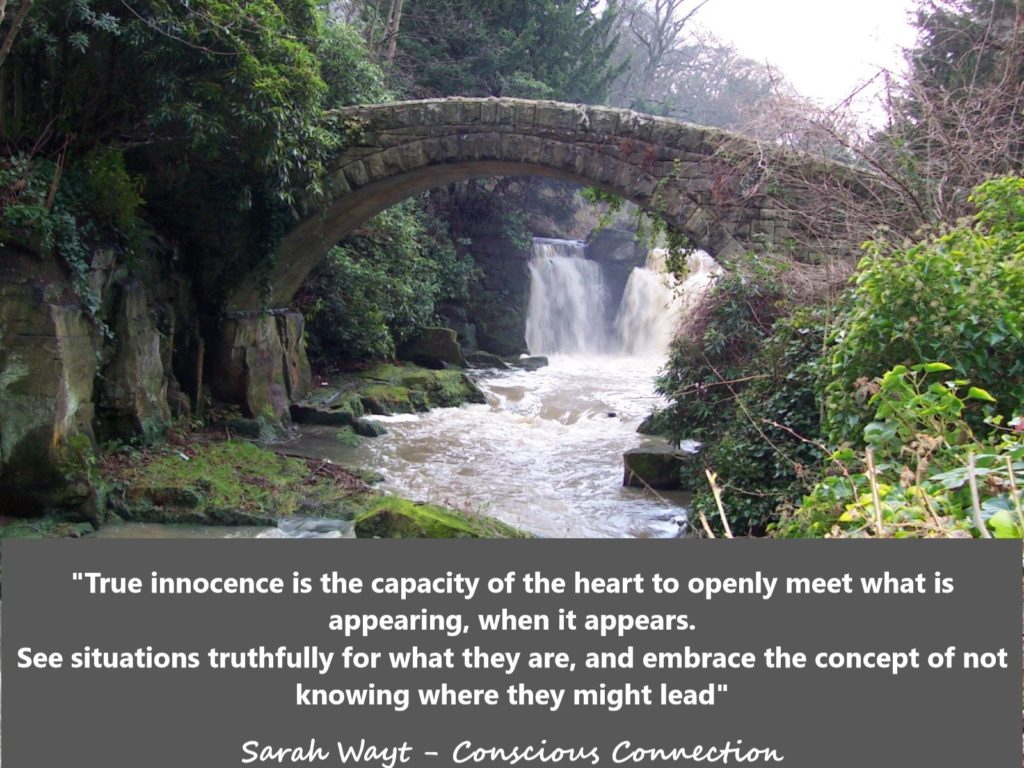 true innocence is the capacity of the heart to openly meet what is appearing