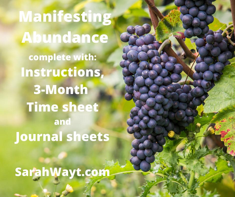 3 month spiritual energy exchange abundance timesheet