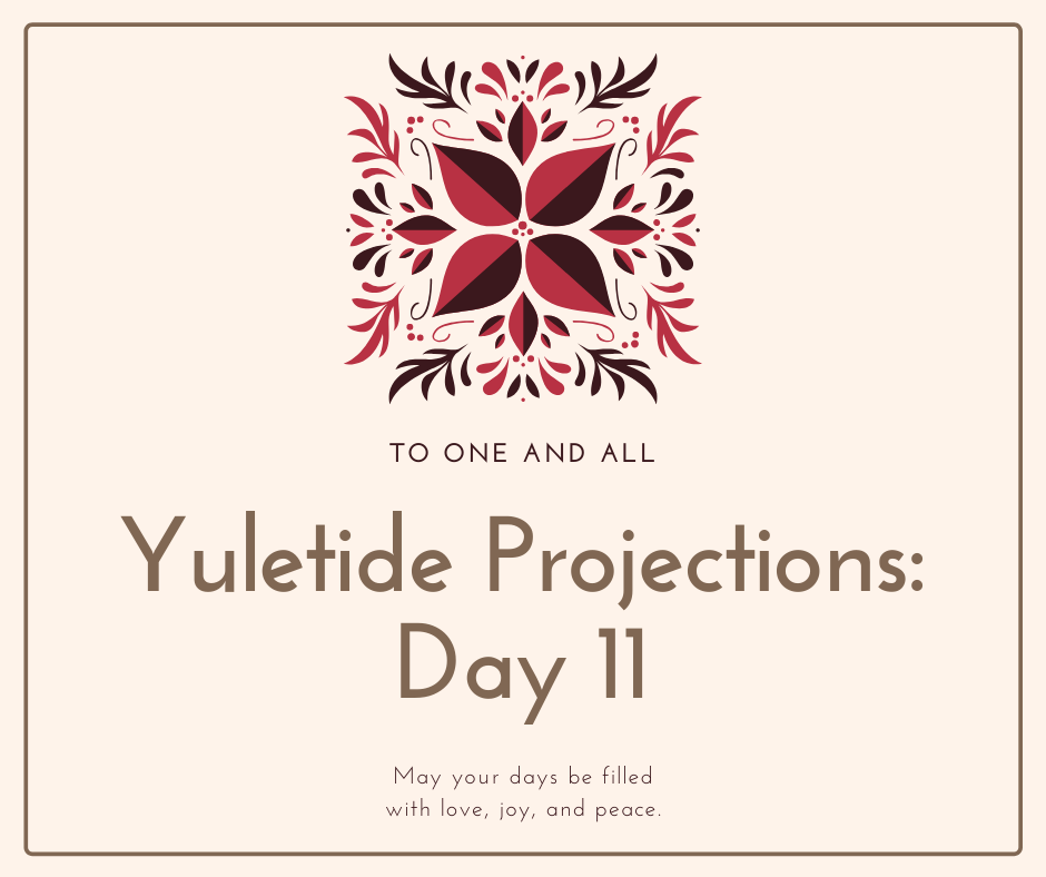 Yuletide thanks and projections. Merry Christmas